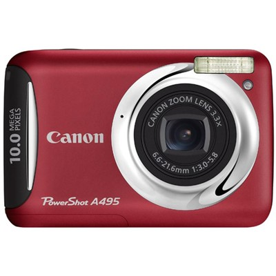 Canon PowerShot A495 Red
