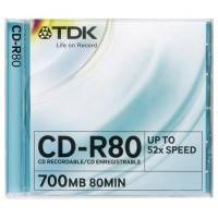 CD-R TDK 80m, 700Mb, 52x