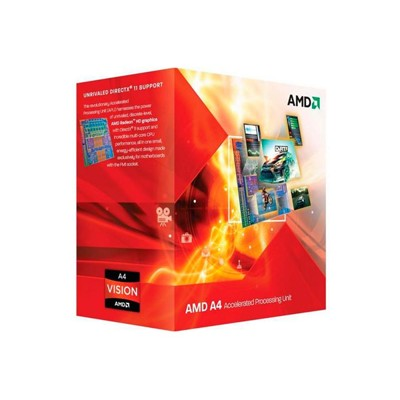 CPU Socket FM-1 AMD A4 X2 3400 BOX