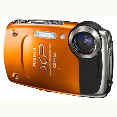 FujiFilm FinePix XP30+mount chest Orange