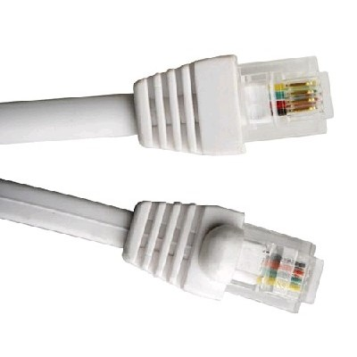 Hyperline PCM-RJ12-RJ12-5M-WH