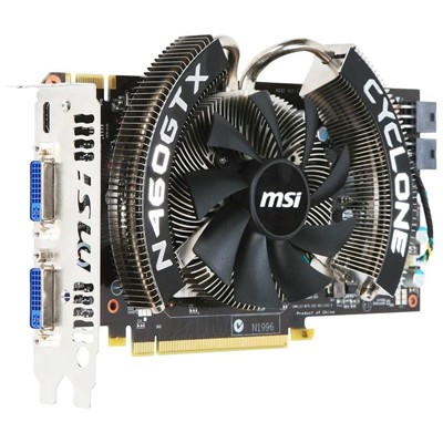 PCI-Ex 1024Mb MSI N460GTX-1GD5/OC CYCLONE