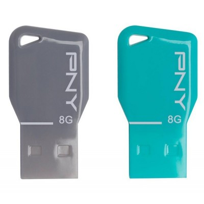 PNY 8GB USB Flash drive Key FDU8GBKEYCOLX2-EF