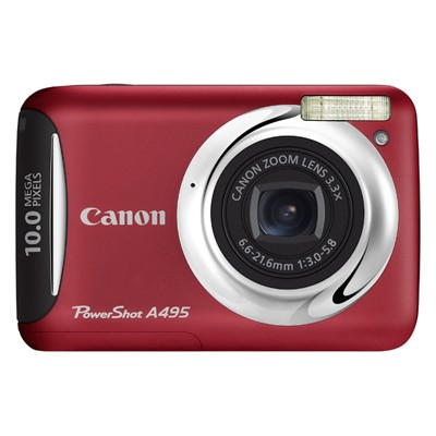 Canon PowerShot A495 IS Red