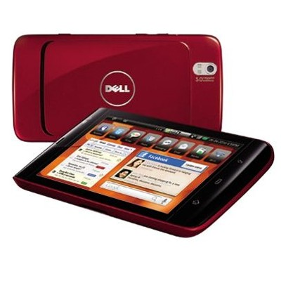 Dell Streak Mini 5 QSD 8250/512/16/3G/Android 2.2/Red+Car Docking Kit