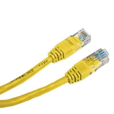 Hyperline PC-LPM-UTP-RJ45-RJ45-C5e-5M-YL