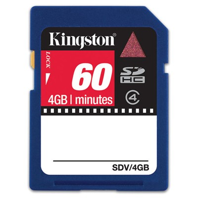 Kingston 4GB Class 4 SDHC SDV-4GB