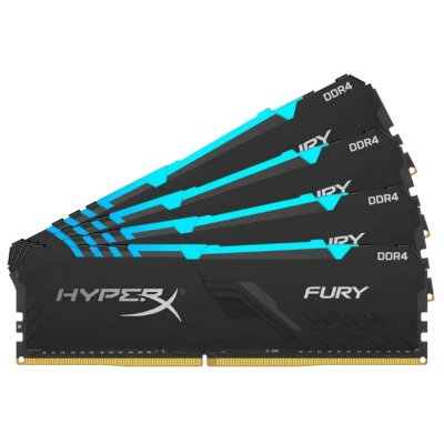 оперативная память Kingston HyperX Fury RGB HX434C16FB3AK4-64