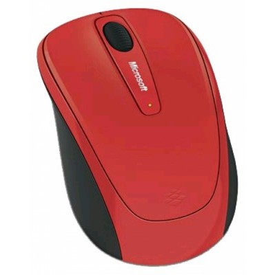 Microsoft Wireless Mouse 3500 Flame Red