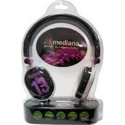 Наушники Mediana EP-725 Black/Purple