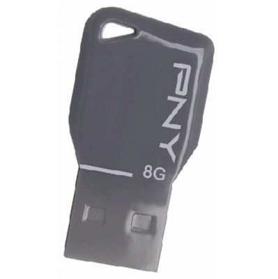 PNY 8GB USB Flash drive Key FDU8GBKEYGRY-EF