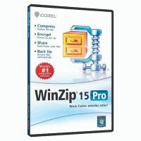 WinZip 15 Professional Single User DVD case WZ15PROMLDVDEU